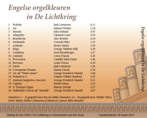 Engelse orgelkleuren in De Lichtkring.